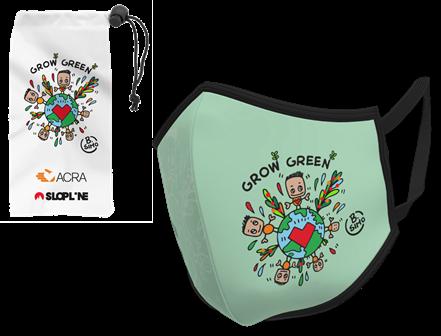 mascherina grow green